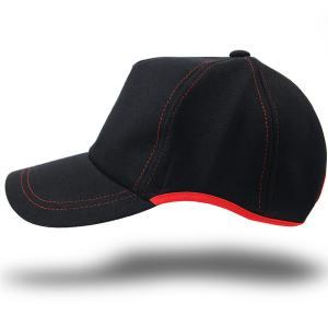 10周年記念限定モデル 大きいサイズ 帽子 メンズ 無地 ラウンドスウェットキャップ BIGWATCH ブラック レッドステッチ|creak-net
