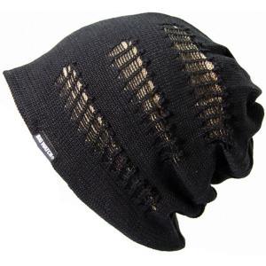 大きいサイズ 帽子 メンズ ニット帽子 CRASHリバーシブル   ブラック ベージュ  ニットキャップ|creak-net