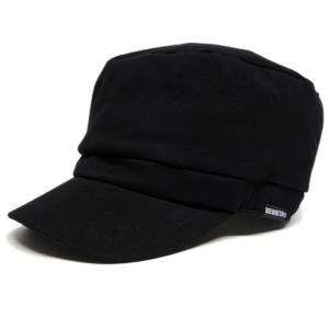 大きいサイズ 帽子 メンズ コットン ワークキャップ ブラック 黒 BIGWATCH