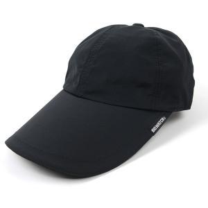 大きいサイズ 帽子 ウォータープルーフ(撥水加工)フィッシングキャップ   ブラック 黒 釣り BIGWATCH|creak-net