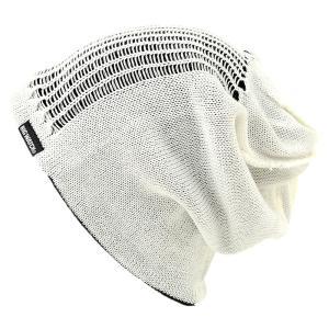 大きいサイズ 帽子 メンズ ニット帽子 スパイダークラッシュ  ホワイト ブラック ニットキャップ|creak-net