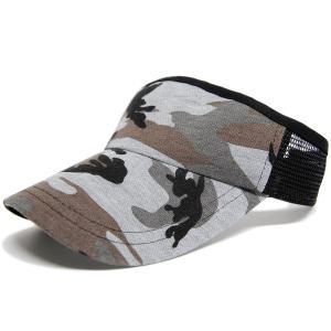 大きいサイズ 帽子 L XL メンズ カモ柄 サンバイザー ...