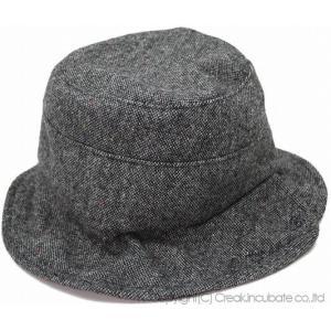 大きいサイズ 帽子 ハット レディース メンズ ツイード ハット  ネップ グレー ハット|creak-net