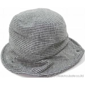 大きいサイズ 帽子 ハット レディース ビッグワッチBIGWATCH ツイード ハット  千鳥格子 ハウンドトゥース ドッグトゥース|creak-net