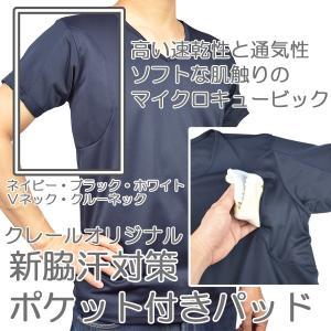 ワキ汗取りパッド・ポケット付きシャツ(マイクロキュービック)...