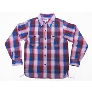 Pherrow's[フェローズ] ネルシャツ 18W-720WS ヘビーフランネル チェック (ベージュ×ブラウン)|cream05