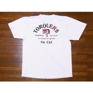 Pherrow's[フェローズ] Tシャツ 19S-PT13 TORQUERS (S.ホワイト)|cream05