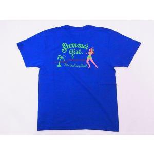 Pherrow's[フェローズ] Tシャツ 19S-PT23 Summer girl (B.ブルー)|cream05