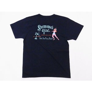 Pherrow's[フェローズ] Tシャツ 19S-PT23 Summer girl (S.ブラック)|cream05