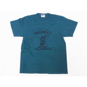 Pherrow's[フェローズ] Tシャツ 19S-PTJ6 DRINK AND BEER CO.,LTD. (グリーン)|cream05