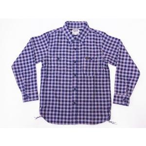 Pherrow's[フェローズ] ネルシャツ 19W-720WS ヘビーフランネル ギンガムチェック (ネイビー×オフホワイト)|cream05