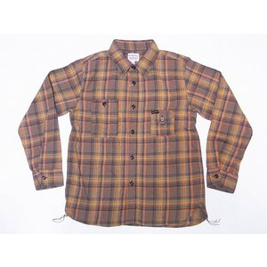 Pherrow's[フェローズ] ネルシャツ 19W-750WS-C ライトフランネル チェック ワークシャツ (ブラウン)|cream05