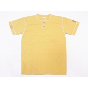 Two Moon[トゥームーン] Tシャツ ヘンリーネックTシャツ 24223 ヘンリーTee (マスタード)|cream05