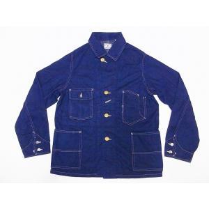 FULLCOUNT[フルカウント] カバーオール デニム 2953OW 1930's 9.25oz Denim Coverall Jacket デニムカバーオール (インディゴブルー/ONE-WASH)|cream05