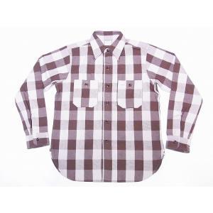 WAREHOUSE[ウエアハウス] ネルシャツ A柄 3104 フランネルシャツ FLANNEL SHIRTS バッファローチェック (ブラウン)|cream05