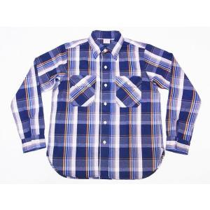 WAREHOUSE[ウエアハウス] ネルシャツ C柄 3104 フランネルシャツ FLANNEL SHIRTS (ネイビー)|cream05