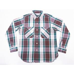 WAREHOUSE[ウエアハウス] ネルシャツ C柄 3104 フランネルシャツ FLANNEL SHIRTS チェック (グリーン)|cream05