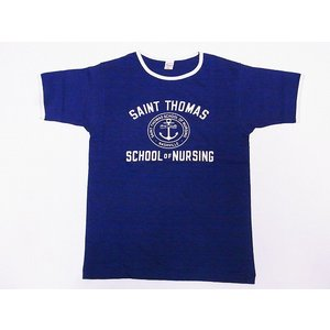 WAREHOUSE[ウエアハウス] Tシャツ リンガー SAINT THOMAS 4059 リンガーTシャツ (ネイビー/クリーム)|cream05