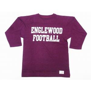 WAREHOUSE[ウエアハウス] フットボールTシャツ 4063 七分袖 ENGLEWOOD (ボルドー) cream05