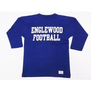 WAREHOUSE[ウエアハウス] フットボールTシャツ 4063 七分袖 ENGLEWOOD (ネイビー) cream05