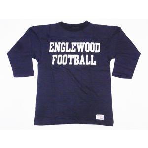 WAREHOUSE[ウエアハウス] フットボールTシャツ 4063 七分袖 ENGLEWOOD (スミクロ) cream05