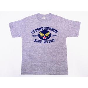 WAREHOUSE[ウエアハウス] Tシャツ MUROC AIR BASE 4601 (杢グレー)|cream05