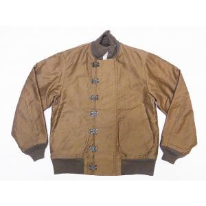 Buzz Rickson's[バズリクソンズ] DECK HOOK デッキジャケット デッキフック BR13580 オリジナルスペック (KHAKI)|cream05