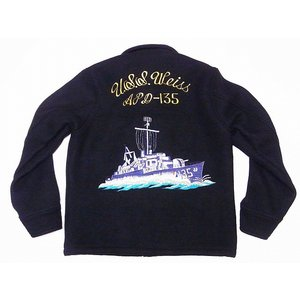 Buzz Rickson's[バズリクソンズ] ツアージャケット ウール BR13864 USS Weiss WOOL TOUR JACKET (ブラック)|cream05