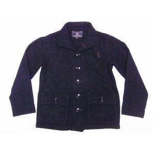 Buzz Rickson's[バズリクソンズ] サブマリナーコート BR13877 SUBMARINE CLOTHING WINTER WOOLEN (チャコール)|cream05