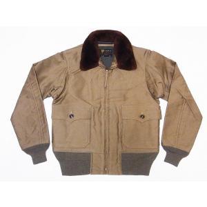 Buzz Rickson's[バズリクソンズ] G-1 ジャングルクロス BR14129 フライトジャケット JUNGLE CLOTH G-1 AVIATION ASSOCIATES (カーキ)|cream05