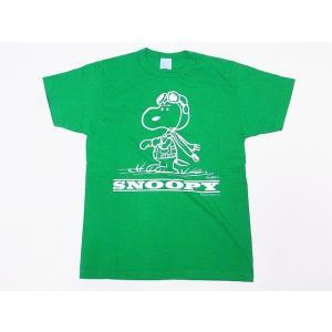 Buzz Rickson's[バズリクソンズ]×PEANUTS[ピーナッツ] Tシャツ スヌーピー BR78126 SNOOPY (ケリーグリーン)|cream05