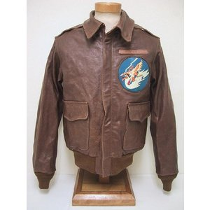 Buzz Rickson's[バズリクソンズ] A-2 314th FTR.SQ. The Hawks BR80186 (S/BROWN)|cream05