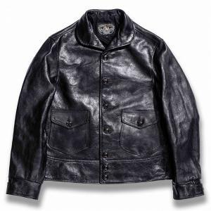 DOUBLE HELIX[ダブルヘリックス] レザージャケット 180201 CLASSIC 1920s ホースレザー スポーツジャケット 革ジャン (ブラック)|cream05