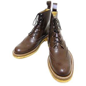 Dry Bones[ドライボーンズ] ブーツ Gillie Half Boots ギリーブーツ DSHC-008 (BROWN)|cream05