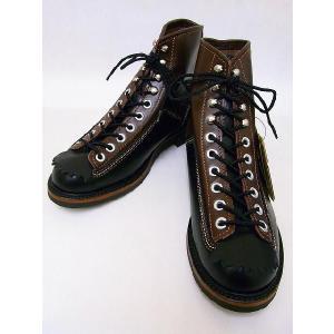 LONE WOLF[ロンウルフ] ブーツ CARPENTER カーペンター F01615 (BLACK×BROWN)|cream05