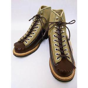 LONE WOLF[ロンウルフ] ブーツ CARPENTER カーペンター F01615 ワークブーツ (BROWN×SUEDE)|cream05