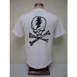 BLUE BUCK[ブルーバック] Tシャツ DEAD HEADS GDHS10-02 (WHITE)|cream05