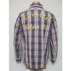 BLUE BUCK[ブルーバック] ネルシャツ W/EMB'D HS94NS-1B (PINK)|cream05