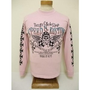 INDIAN MOTORCYCLE[インディアンモーターサイクル] ロンT TERRY'S CYCLE SHOP (PINK) cream05