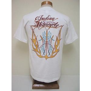 INDIAN MOTORCYCLE[インディアンモーターサイクル] Tシャツ FLAMES (OFF WHITE) cream05