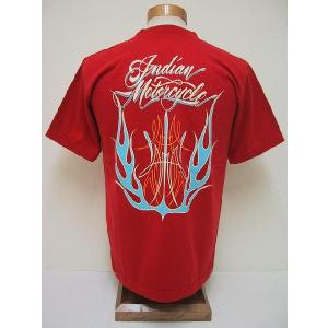 INDIAN MOTORCYCLE[インディアンモーターサイクル] Tシャツ FLAMES (RED) cream05