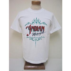 INDIAN MOTORCYCLE[インディアンモーターサイクル] Tシャツ INDIAN LOGO (OFF WHITE) cream05