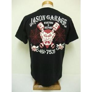 INDIAN MOTORCYCLE[インディアンモーターサイクル] Tシャツ JASON GARAGE (BLACK) cream05
