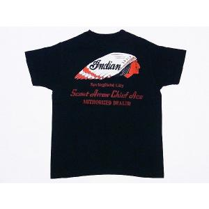 INDIAN MOTORCYCLE[インディアンモーターサイクル] Tシャツ INDIAN HEAD IM76698 (BLACK) cream05