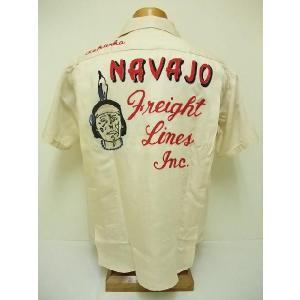 King Louie[キングルイ] ボウリングシャツ NAVAJO Freight Lines Inc. (OFF WHITE) cream05