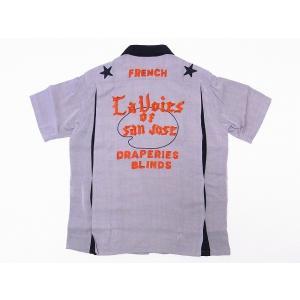 King Louie[キングルイ] ボウリングシャツ KL37272 ボーリングシャツ LA VOIES OF SAN JOSE (GRAY) cream05