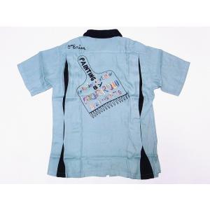 King Louie[キングルイ] ボウリングシャツ KL37600 ボーリングシャツ PAINTBRUSH 50's STYLE (ミントグリーン) cream05