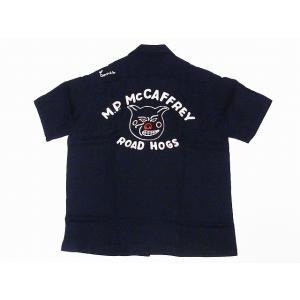 King Louie[キングルイ] ボウリングシャツ KL37832 ROAD HOGS ボーリングシャツ 40's STYLE (ブラック) cream05