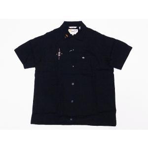 King Louie[キングルイ] ボウリングシャツ KL37834 TRIPLE CROWN ボーリングシャツ 60's STYLE (ブラック) cream05