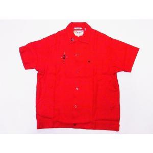 King Louie[キングルイ] ボウリングシャツ KL37834 TRIPLE CROWN ボーリングシャツ 60's STYLE (レッド) cream05